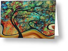 Abstract Art Original Landscape Wild Abandon By Madart Greeting Card
