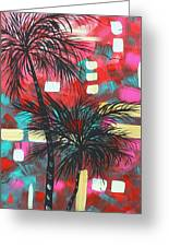 Abstract Art Original Tropical Landscape Painting Fun In The Tropics By Madart Greeting Card by Megan Duncanson