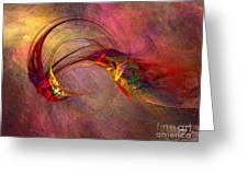Abstract Art Print Hummingbird Greeting Card