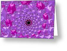 Abstract Art Radiant Orchid Pink Purple Violet Greeting Card