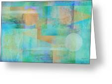 abstract art Tahitian Blue Greeting Card