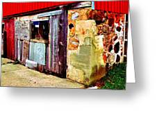 Abstract Barn Base Greeting Card