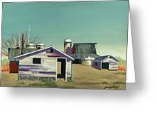 Abstract Barn Greeting Card