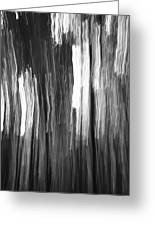 Abstract Black And White Composition Greeting Card