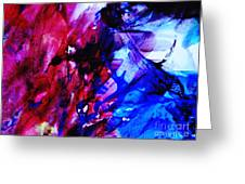 Abstract Blue And Pink Festival Greeting Card by Andrea Anderegg