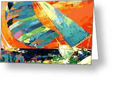 Abstract Boat Ride  Greeting Card