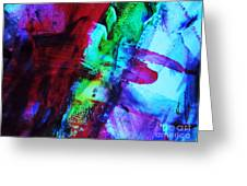 Abstract Bold Colors Greeting Card by Andrea Anderegg