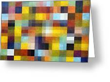 Abstract Boxes With Layers Greeting Card