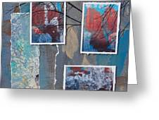 Abstract Branch Collage Trio Greeting Card