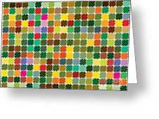 Abstract Bright Colorful Seamless Greeting Card