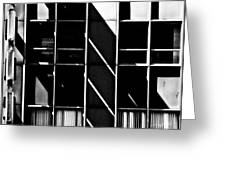 Abstract Building Fascade With Light And Shadow Greeting Card
