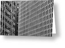 Abstract Buildings Greeting Card