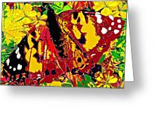 Abstract Butterfly #3 Autumn Greeting Card