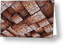 Abstract Ceiling Stone Construction  Greeting Card