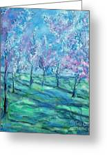 Abstract Cherry Trees Greeting Card