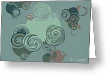 Abstract Circles Pattern Background Greeting Card