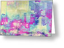 Abstract City Greeting Card by Mark-Meir Paluksht