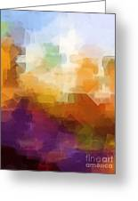 Abstract Cityscape Cubic Greeting Card