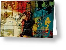 Abstract Collage 01 Greeting Card