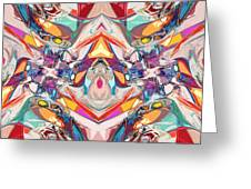 Abstract Color Mix Greeting Card