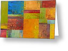 Abstract Color Study Collage Ll Greeting Card