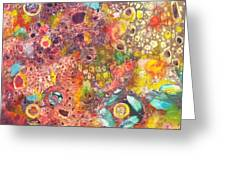 Abstract Colorama Greeting Card