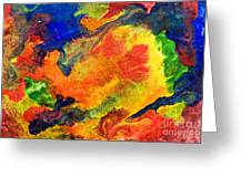 Abstract Colorful Background Greeting Card