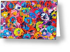 Abstract Colorful Flowers 3 - Paint Joy Series Greeting Card