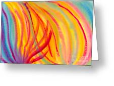 Abstract Colorful Lines Greeting Card