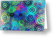 Abstract Colorful Rings Greeting Card