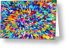 Abstract Colorful Splash Background 1 Greeting Card