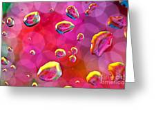 Abstract Colorful Water Drops Greeting Card
