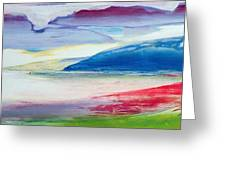 Abstract Composition Greeting Card by Lou Gibbs