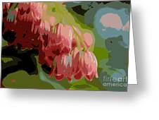 Abstract Coral Bells Greeting Card