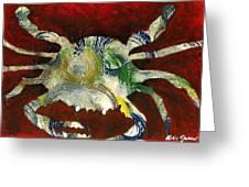 Abstract Crab Greeting Card