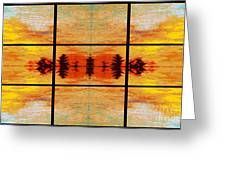 Abstract Cracker Tapestry Greeting Card