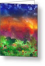 Abstract - Crayon - Utopia Greeting Card
