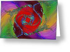 Abstract Cubed 189 Greeting Card
