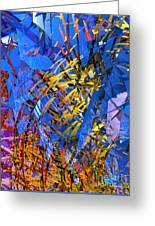 Abstract Curvy 11 Greeting Card