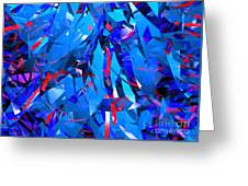 Abstract Curvy 15 Greeting Card
