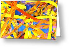 Abstract Curvy 22 Greeting Card