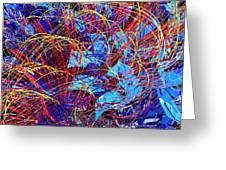 Abstract Curvy 36 Greeting Card
