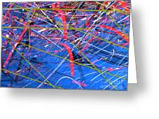 Abstract Curvy 46 Greeting Card