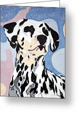 Abstract Dalmatian Greeting Card