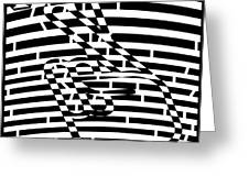Abstract Distortion Keep Your Fingers Crossed Maze Greeting Card