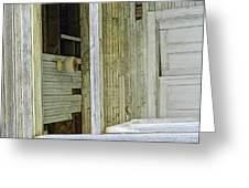 Abstract Doors Greeting Card