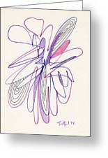 Abstract Drawing Fifty-six Greeting Card