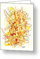 Abstract Drawing Fifty-three Greeting Card