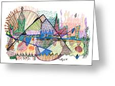 Abstract Drawing One Greeting Card
