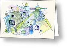 Abstract Drawing Seven Greeting Card